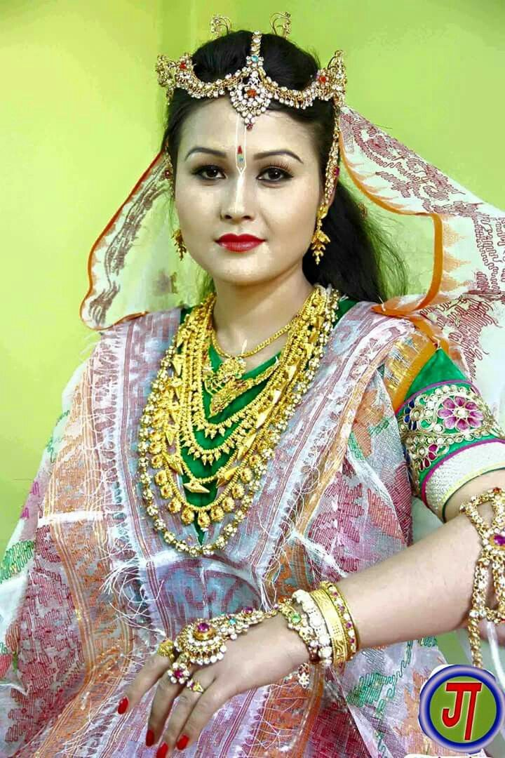 A Manipuri bride in traditional marriage dress | Manipuri girls ...