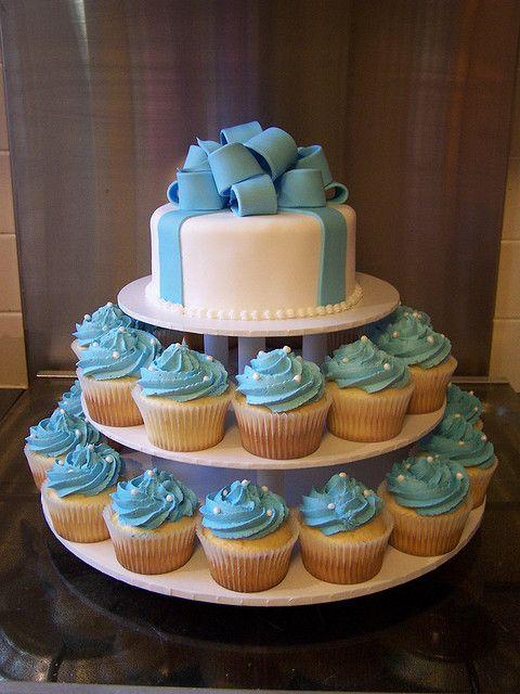 Boys Cupcake Tower Baby Baby Shower Cakes Christening