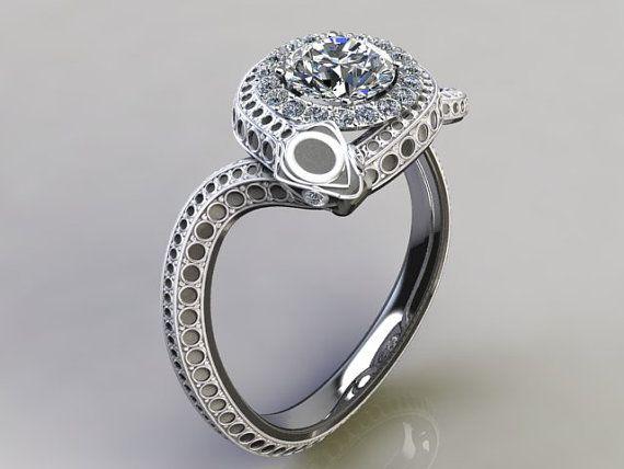 Diamond Snake Engagement Ring By Adamfosterjewelry On Etsy 3600 00