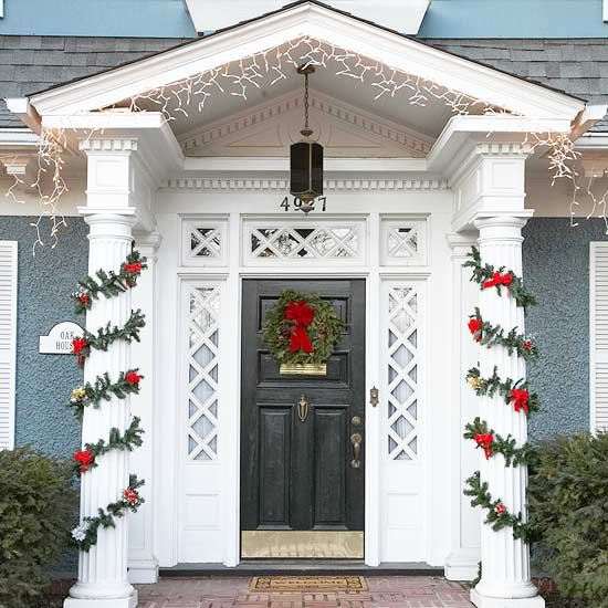 Traditional Wreaths And Garland Are Classic For A Reason! We Love These Front  Door Decorations