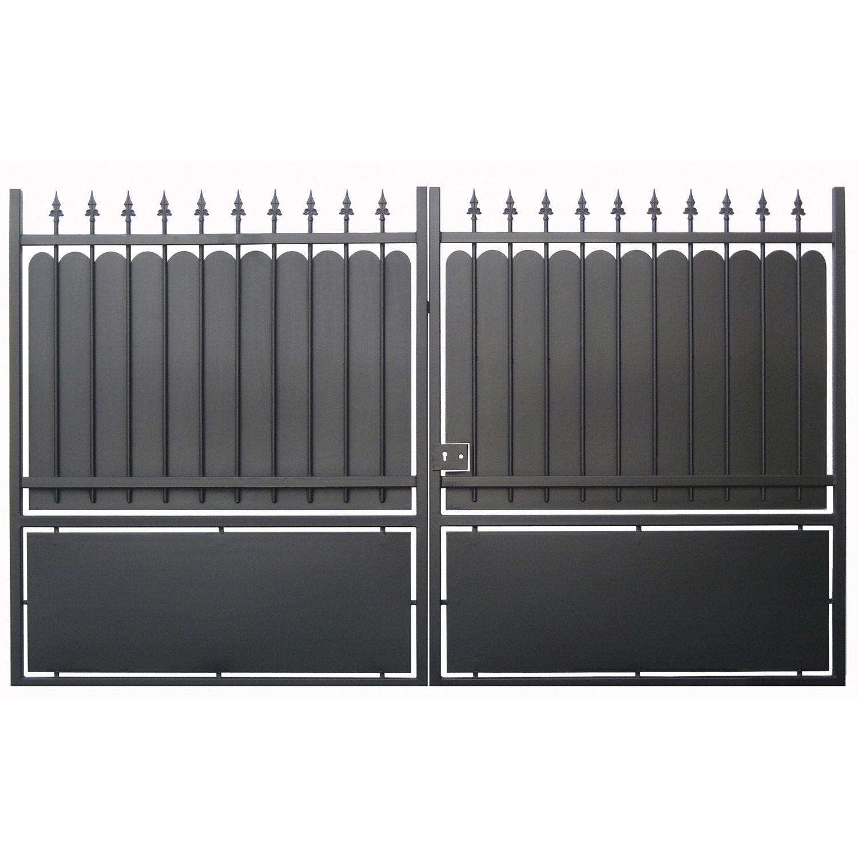 Portail Battant Fer Calypso Noir 300x180cm Portail Portail Coulissant Portail En Fer