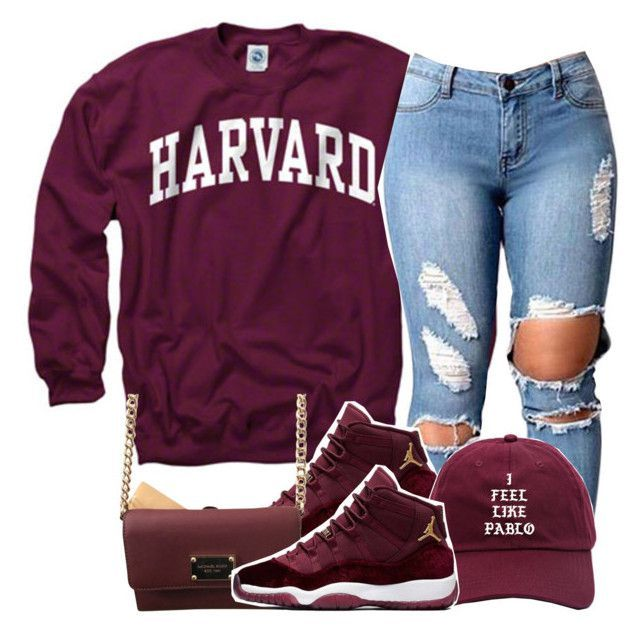 by clinne345 ❤ liked on Polyvore featuring adidas and Michael Kors Women