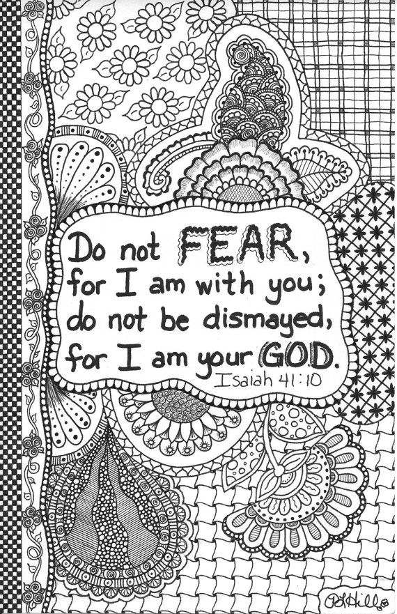 Do Not Fear Doodle by PLHill by plhill0506 on Etsy