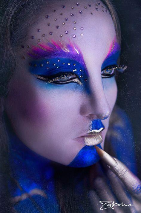 Avant Garde Makeup Narikah Enik Adult Face Paint Themes Makeup - Avant-garde-makeup-themes