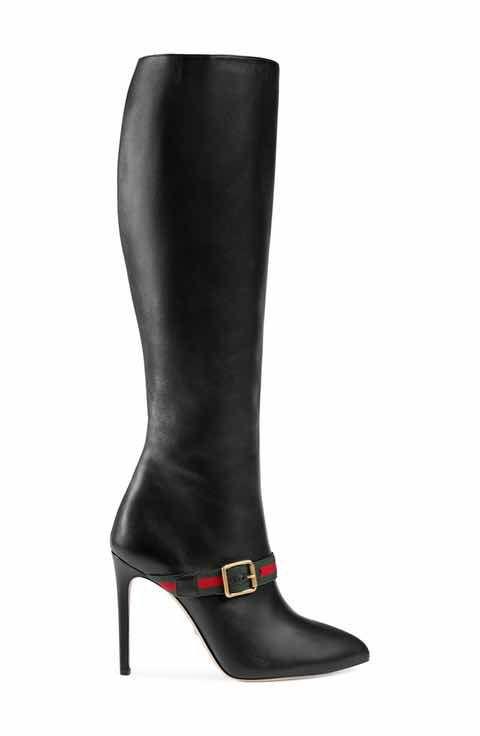 75c3a96fb3ae Gucci Sylvie Strap Tall Boot (Women)