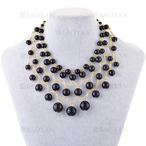 2df345ea0e6d collar grande de perla negra moda en cobre -BRNEG117302