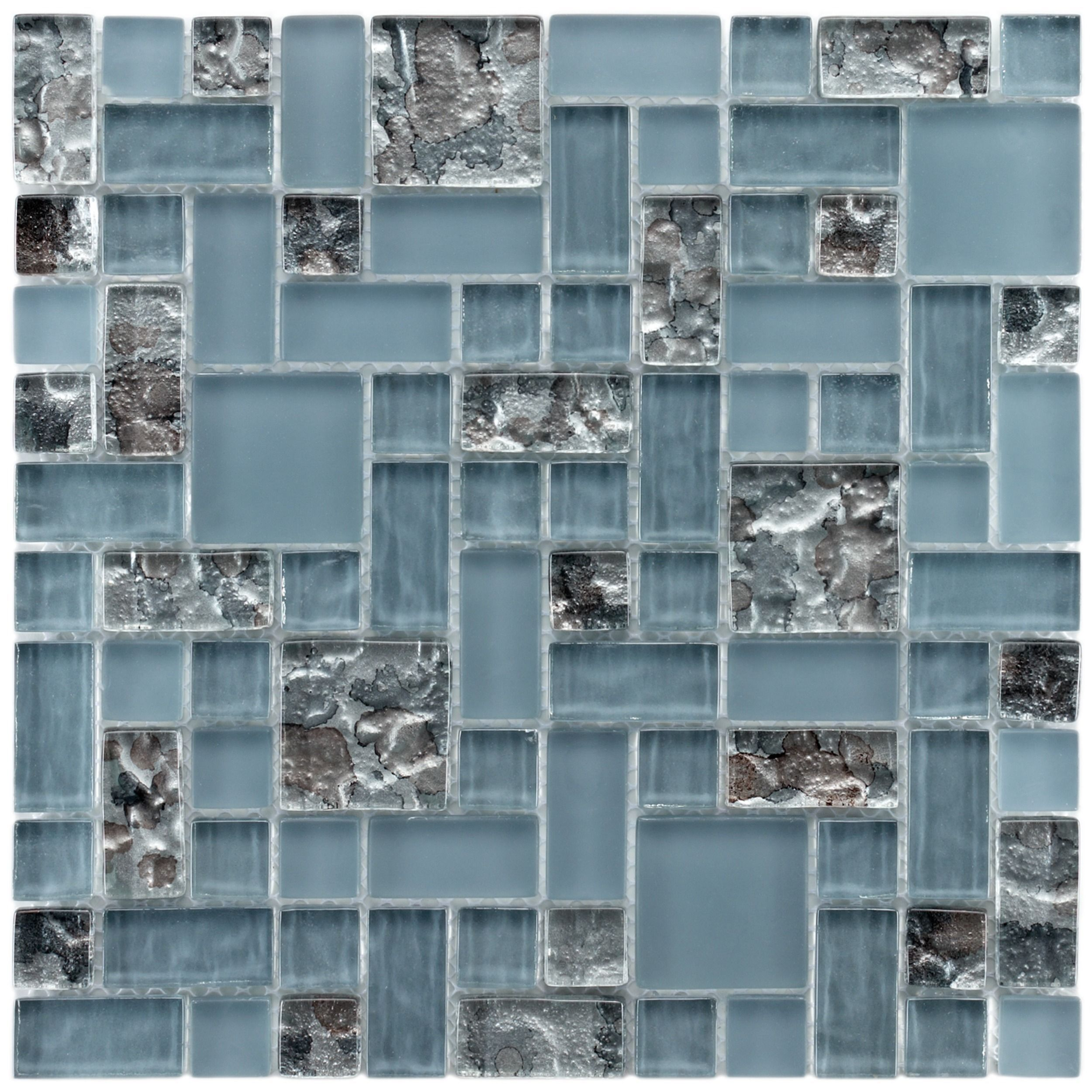 This Beautiful Glass Mosaic Tile Features A Beautiful Blue And