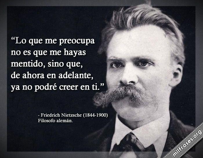 Friedrich Nietzsche Filosofo Alemán Frases Filosoficas
