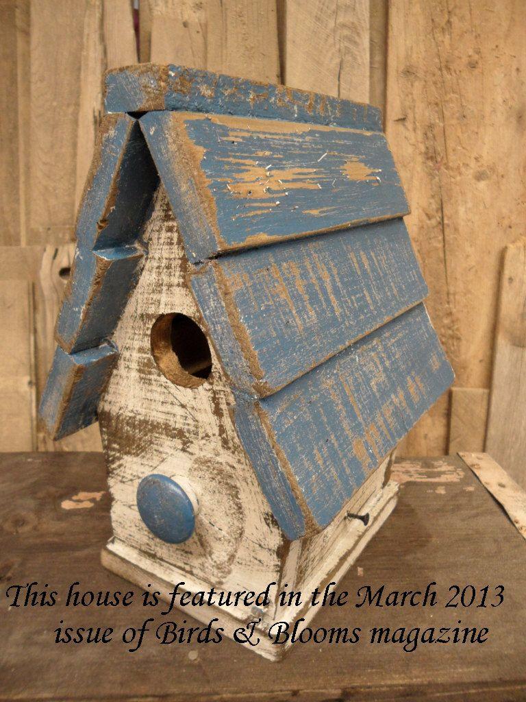 Primitive Bird house, Antique style bird house, Functional ...