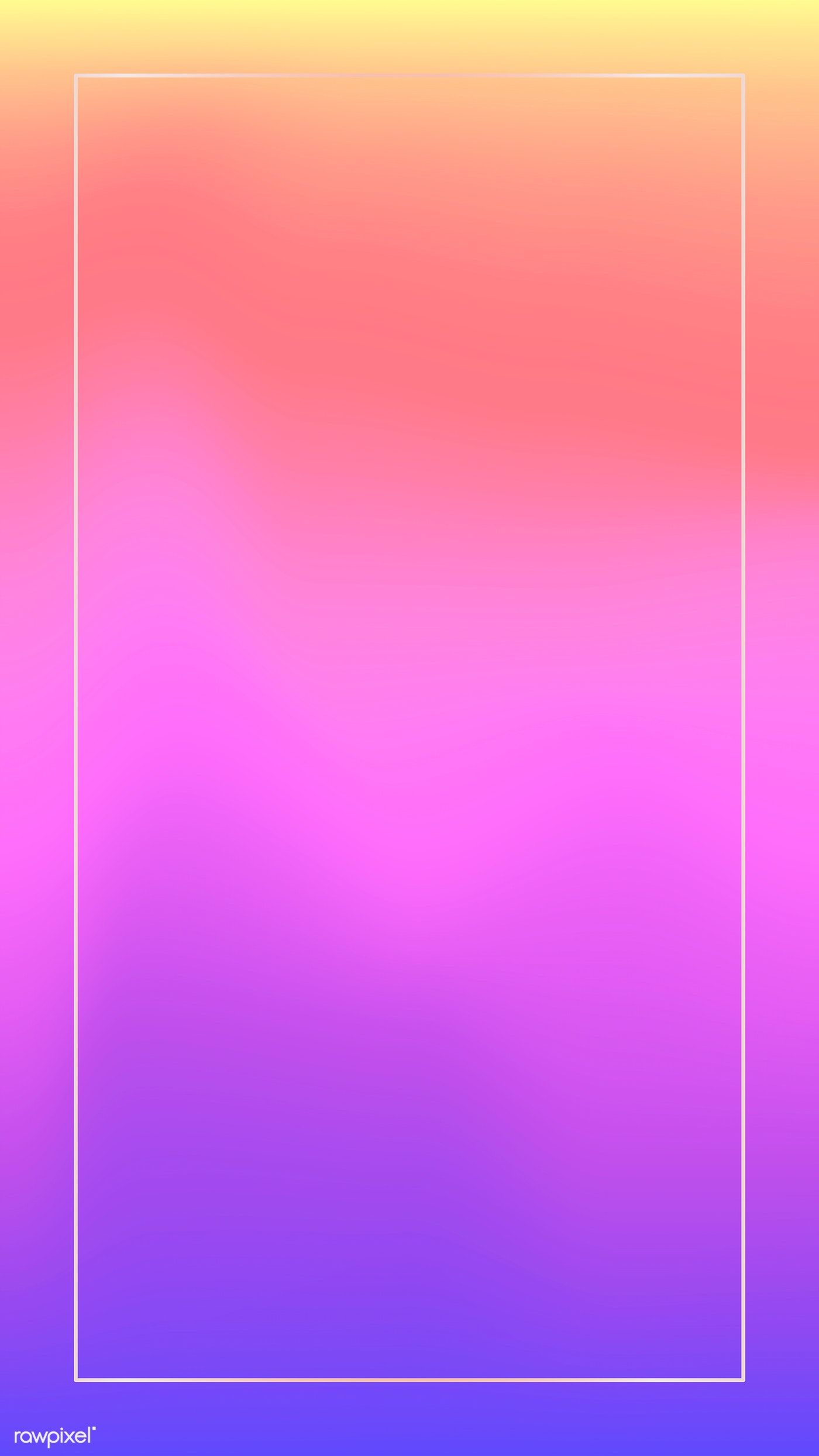 Download Premium Vector Of White Frame On Holographic Pattern Mobile Phone Art Wallpaper Iphone White Frame Holographic