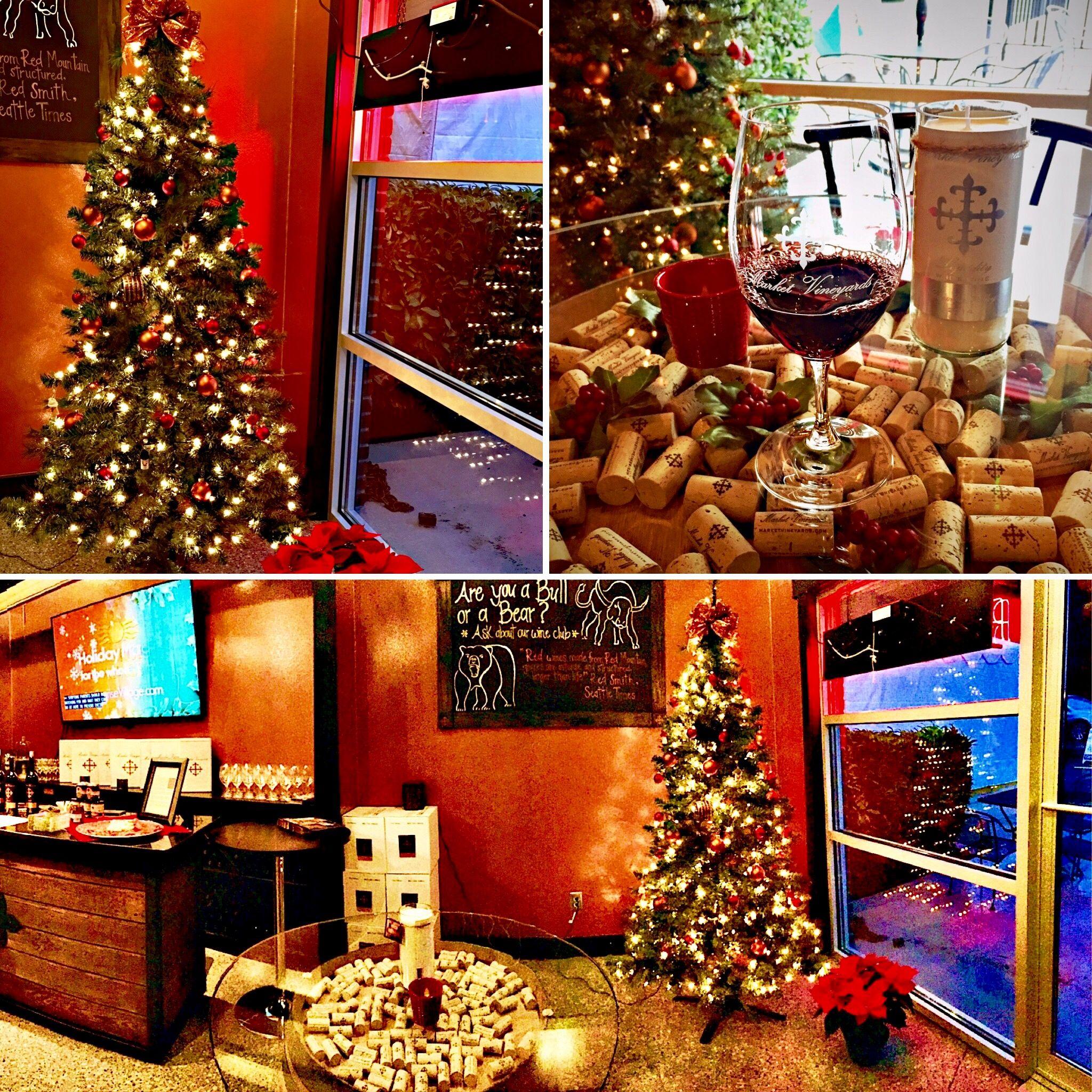 Woodinville Tasting Room December 2016 Holiday Decor Tasting Room Christmas Tree