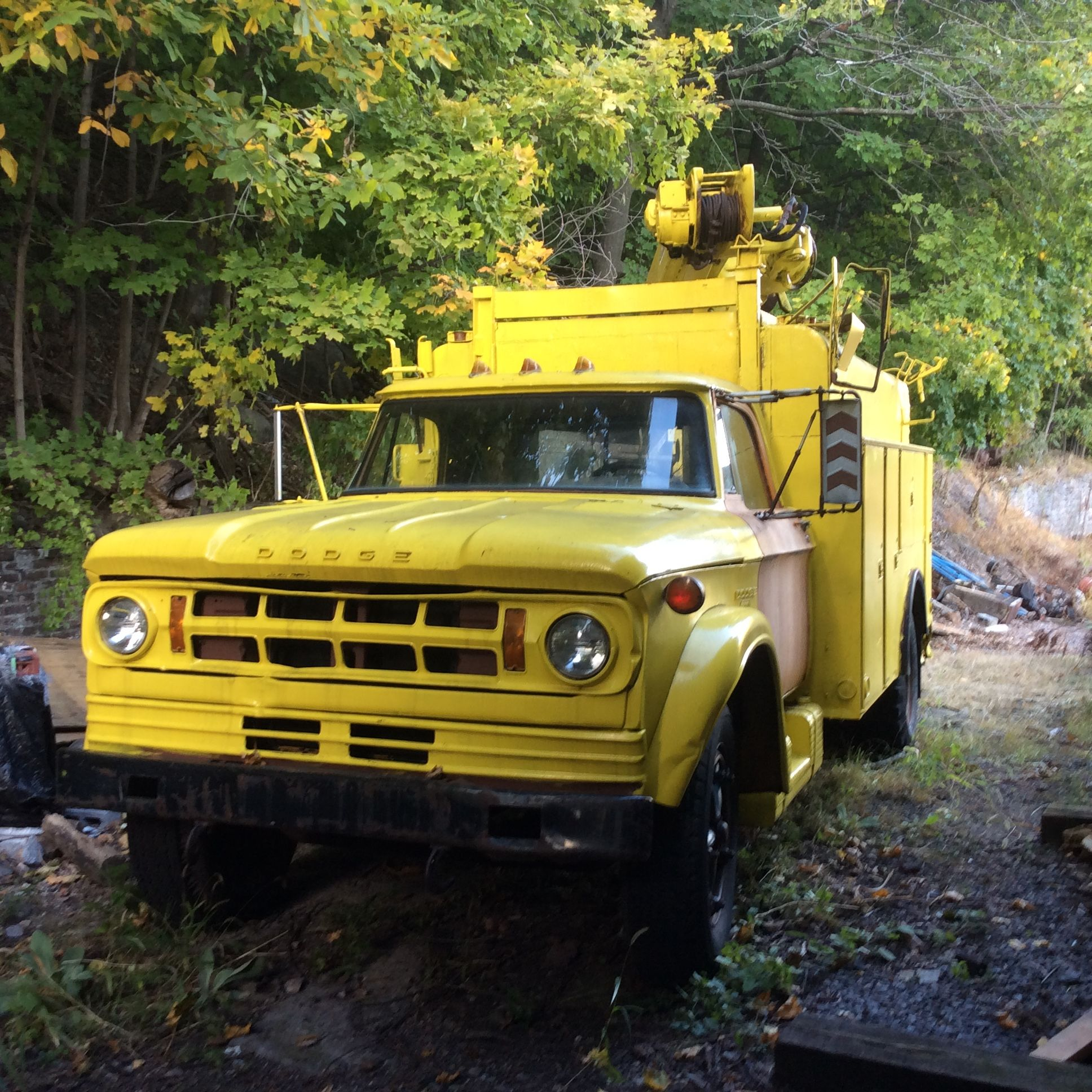 On 10-15-16 this vintage Dodge D-600 with a Pitman Pole Cat