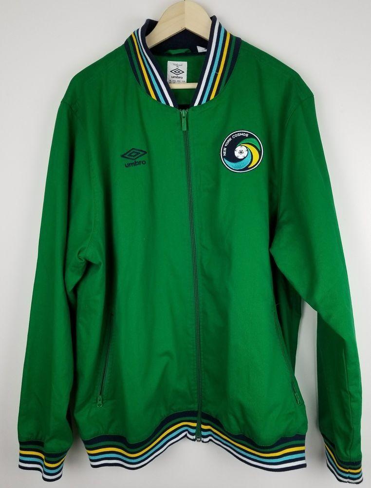 New York Cosmos Umbro MLS Jacket Track Top 3xl GREEN YELLOW