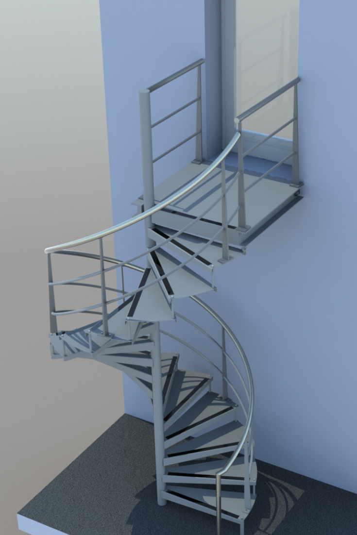 Best 3D Render Impression Of A Externalstair For Dyson 400 x 300