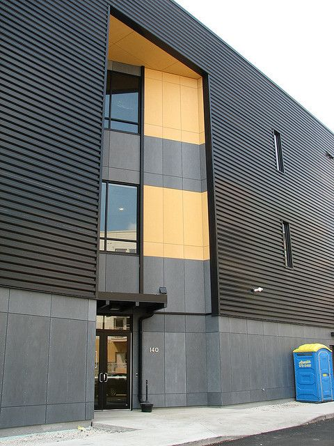 Fiber Cement With Metal Panels Elements Of Modern