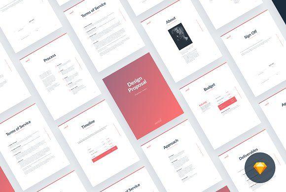 Aerial20 Proposal Template - Sketch @creativework247 Stationery - proposal for service template