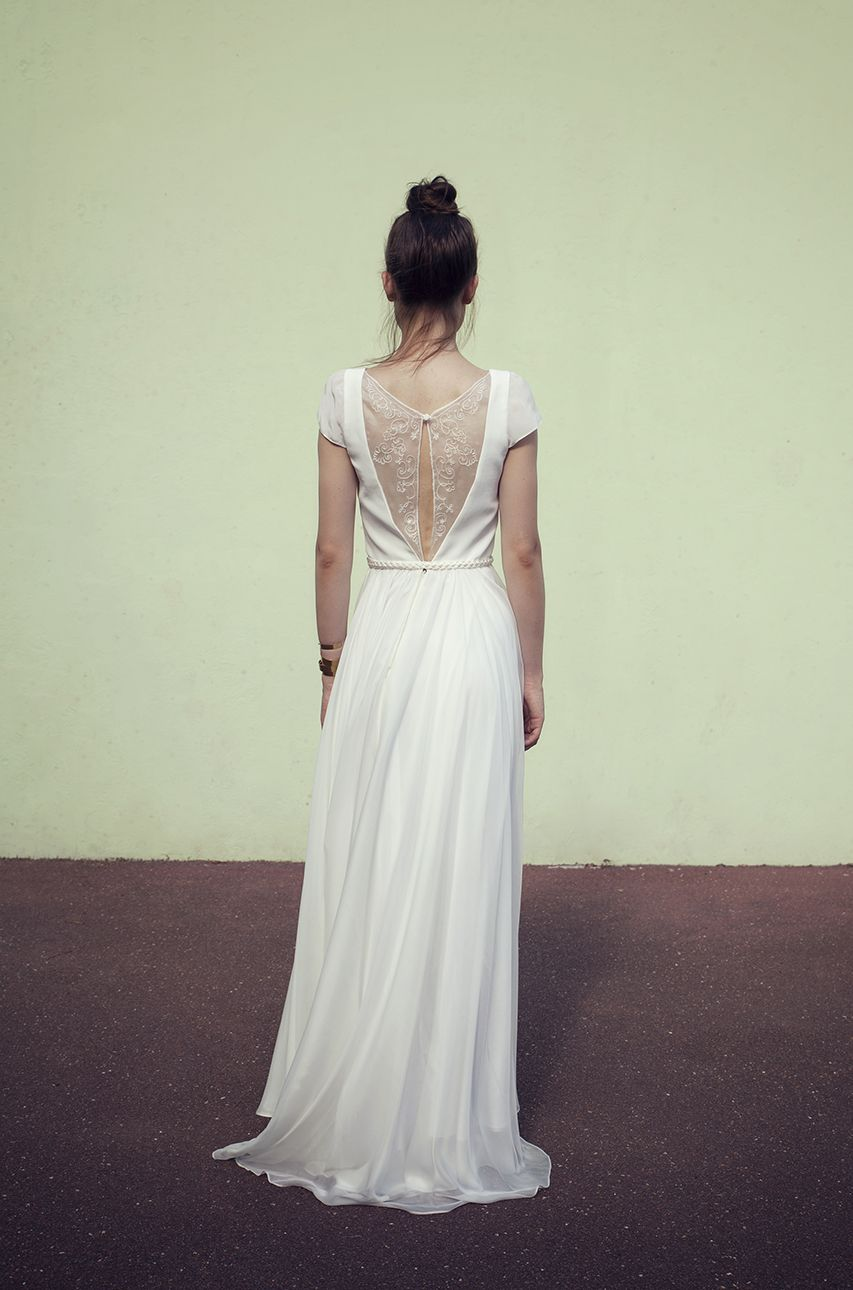 Alméria, robe de mariée en mousseline de