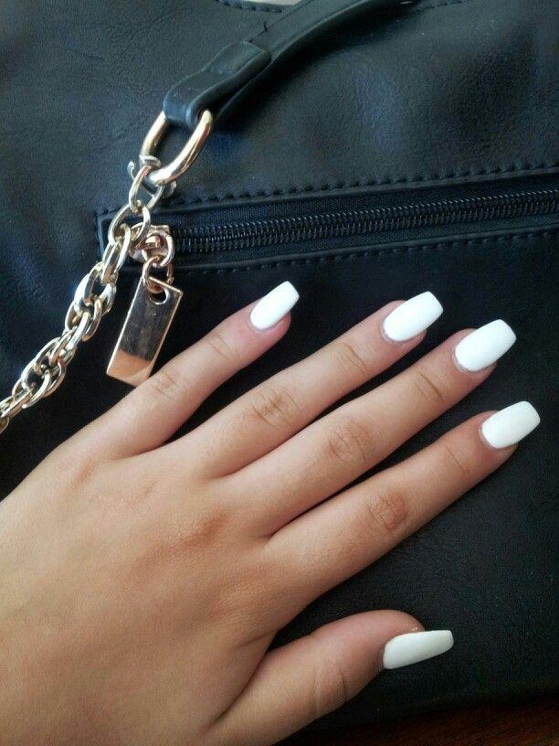 White Matte Acrylic Nails