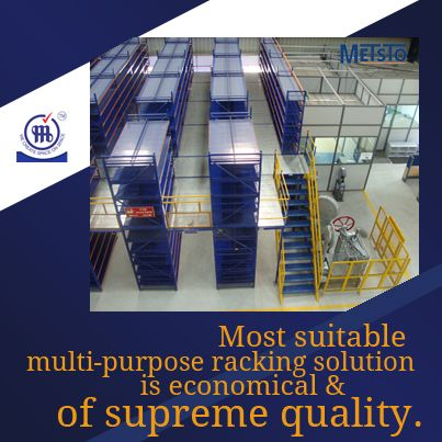 Multitier racking – Most suitable, multi-purpose racking solution, is economical and of supreme quality.  http://www.metalstoragesystems.com