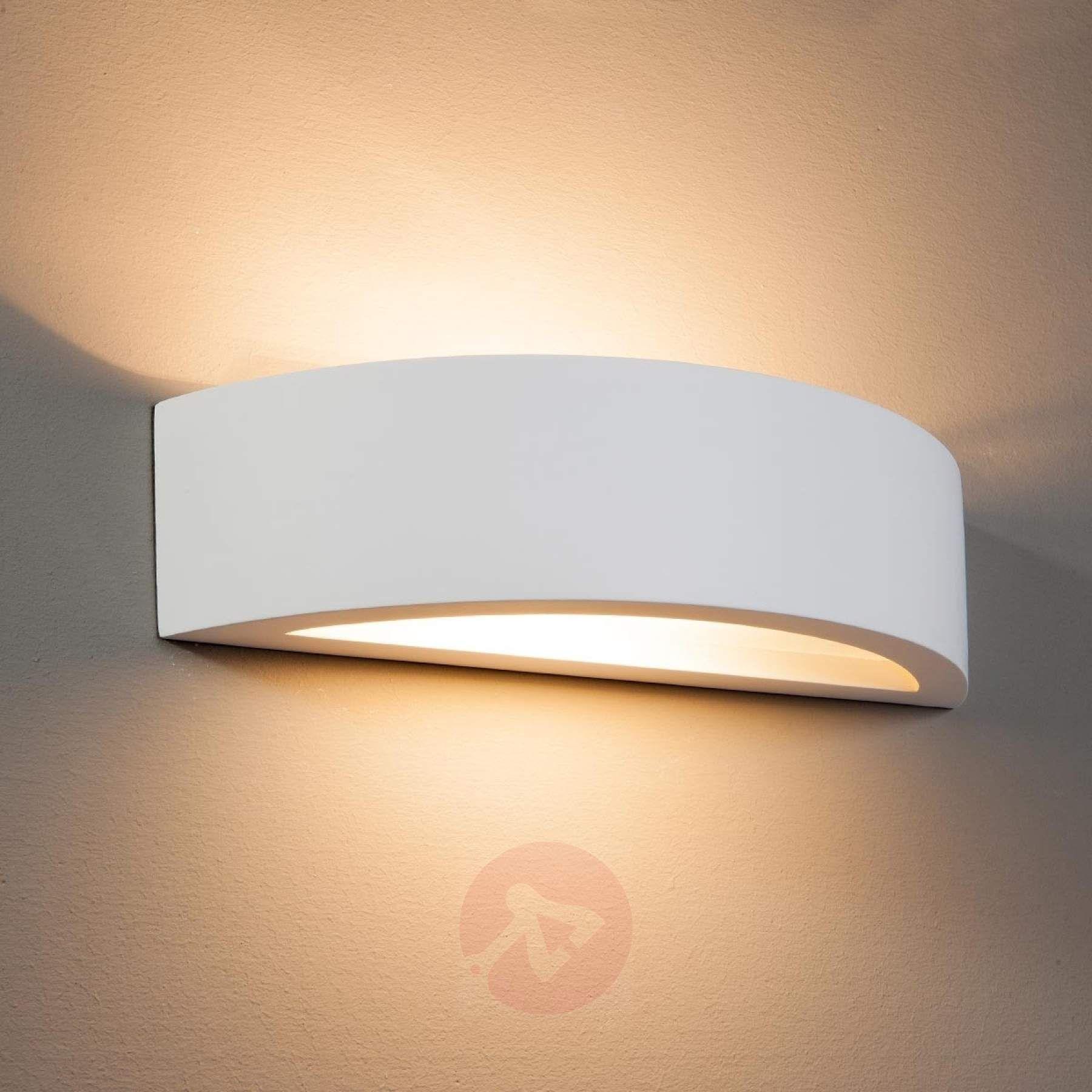 Gebogene Wandleuchte Konstantin Aus Weissem Gips Kaufen Lampenwelt De Wandleuchte Lampen Treppenhaus Wandlampe