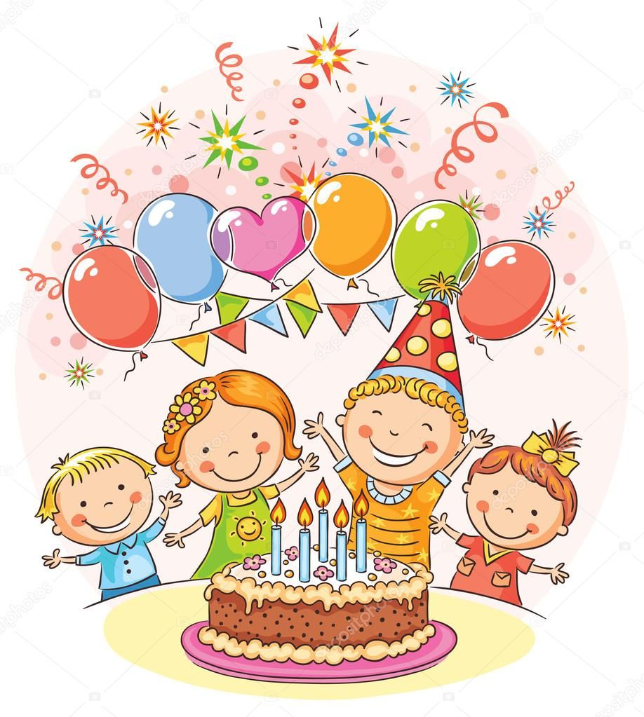 Image result for birthday party clipart