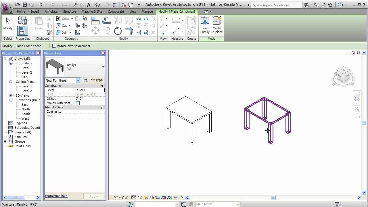 Custom Furniture In Revit Revit Tutorial Revit Architecture Autodesk Revit