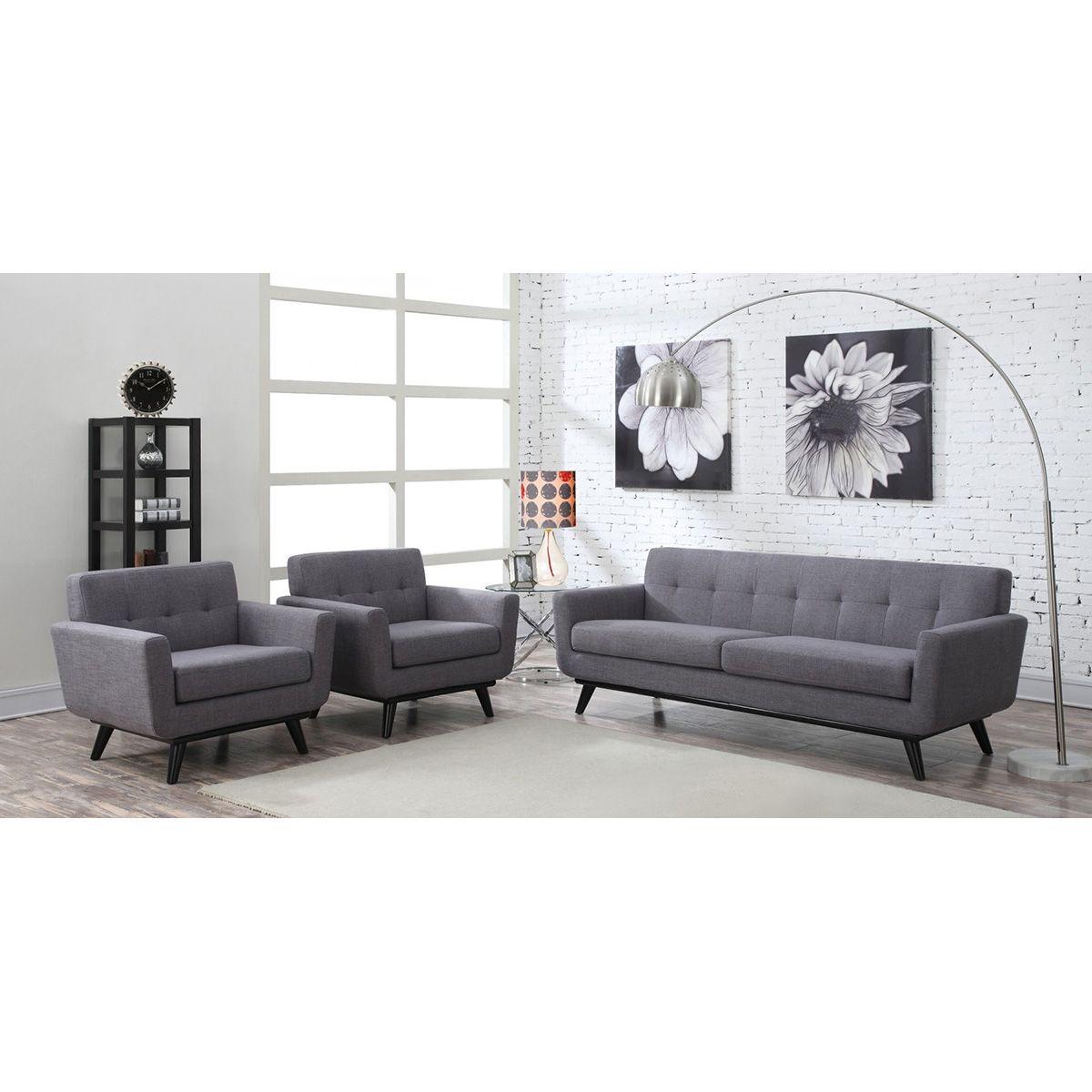TOV Furniture James Grey Linen Sofa TOV S20S G