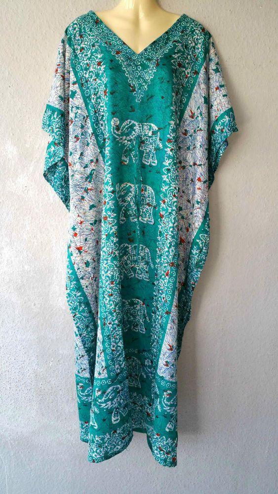 Details zu Maxikleid Strandkleid Sommerkleid Kaftan Boho ...