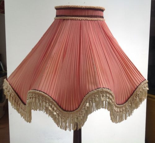 Vintage Chiffon Pleated French Style Lampshade Lamp Shade Shabby Chic