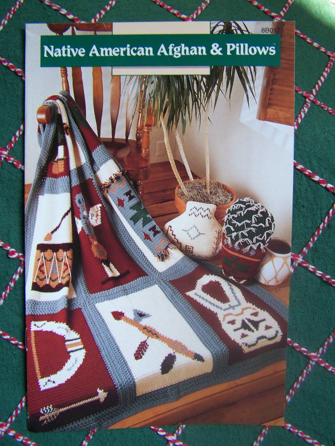 USA Free S&H Annie\'s Crochet Patterns Native American Indian Afghan ...