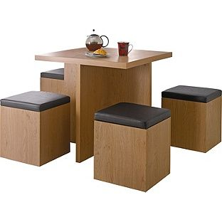 Buy Hygena Bartley Space Saver Dining Table And 4 Stools At Argos Mesmerizing Space Saver Dining Room Table Review