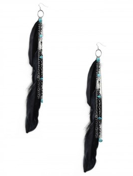 Womens Earrings Indian Feather