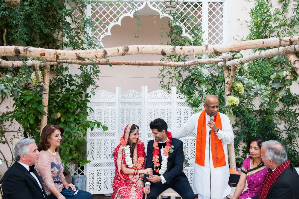 Multicultural Hindu Indian English wedding with traditional sari dress for a classic orangery reception in the Cotswolds with a Black Cab Photo Booth #saridress