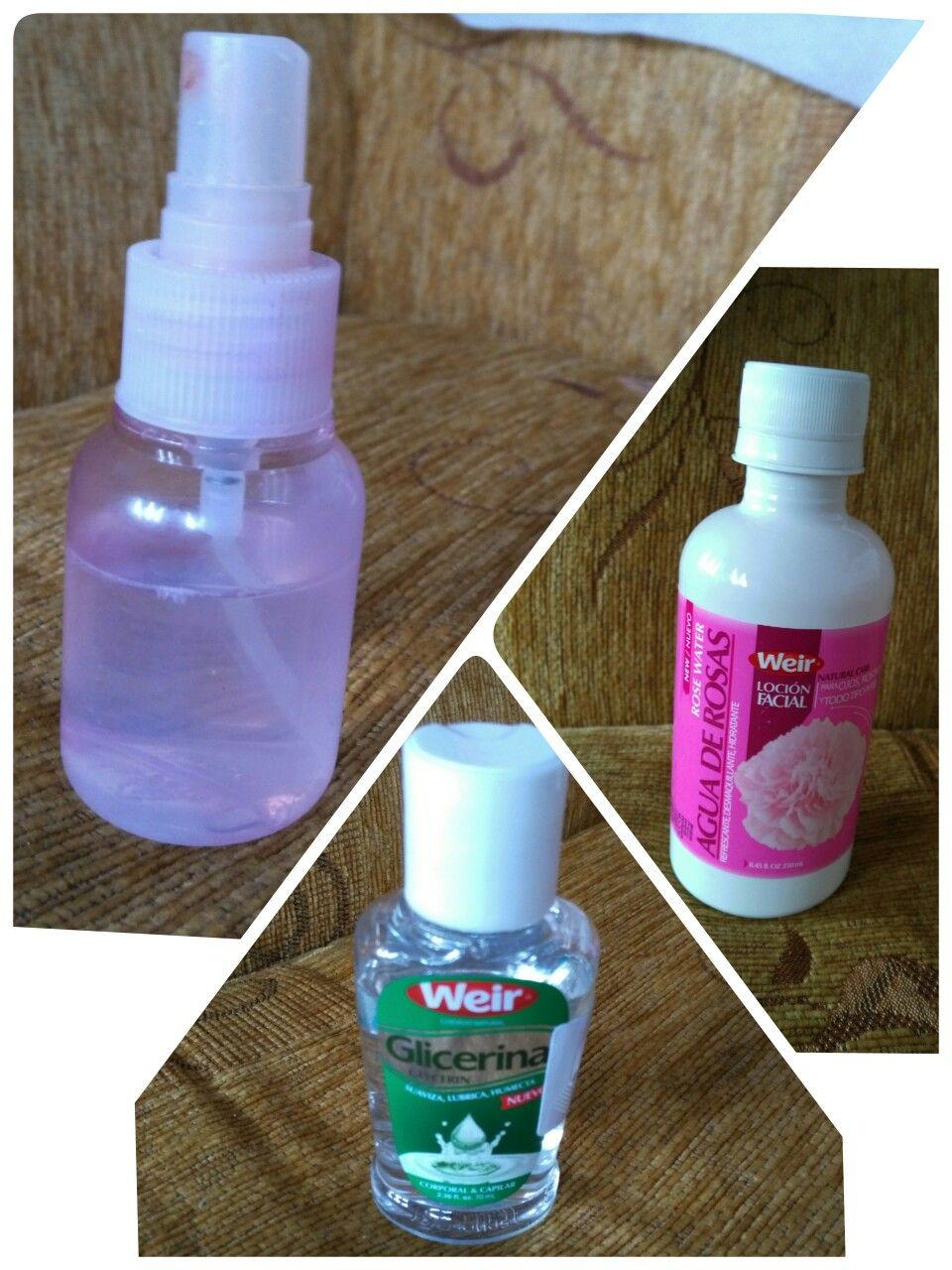 beneficios de la glicerina y agua de rosas