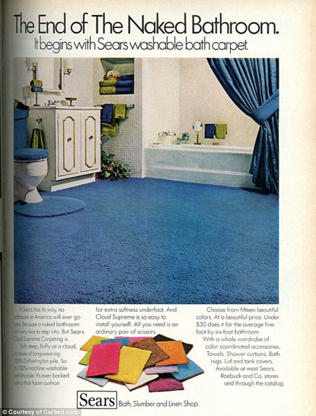 'fancy beautiful' carpets and genuine asbestos wall tile