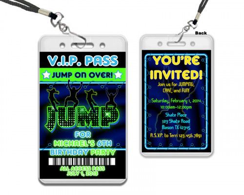 Image result for free printable vip pass template neon Jump party