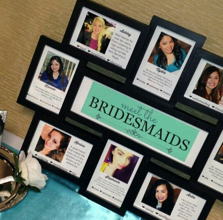 Meet The Bridesmaids Picture Frame! Purchase A Collage