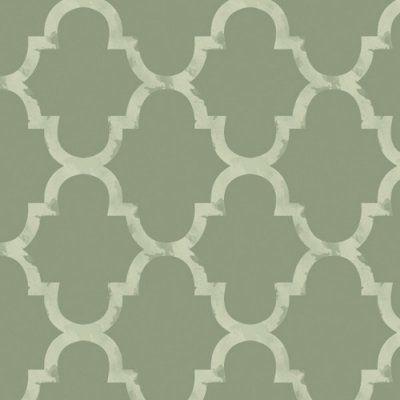 Swag Paper Distressed Trellis Self-Adhesive Wallpaper Avocado - DISTRELLAVCD7