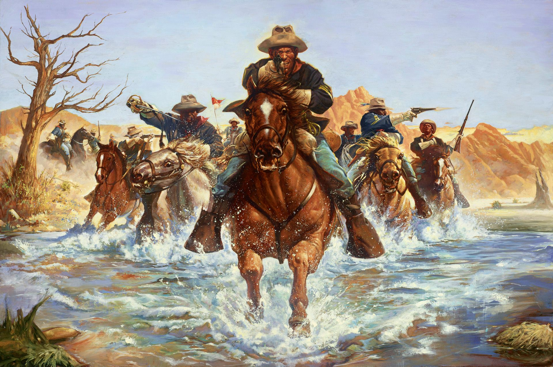 Buffalo Soldiers Art Paintings