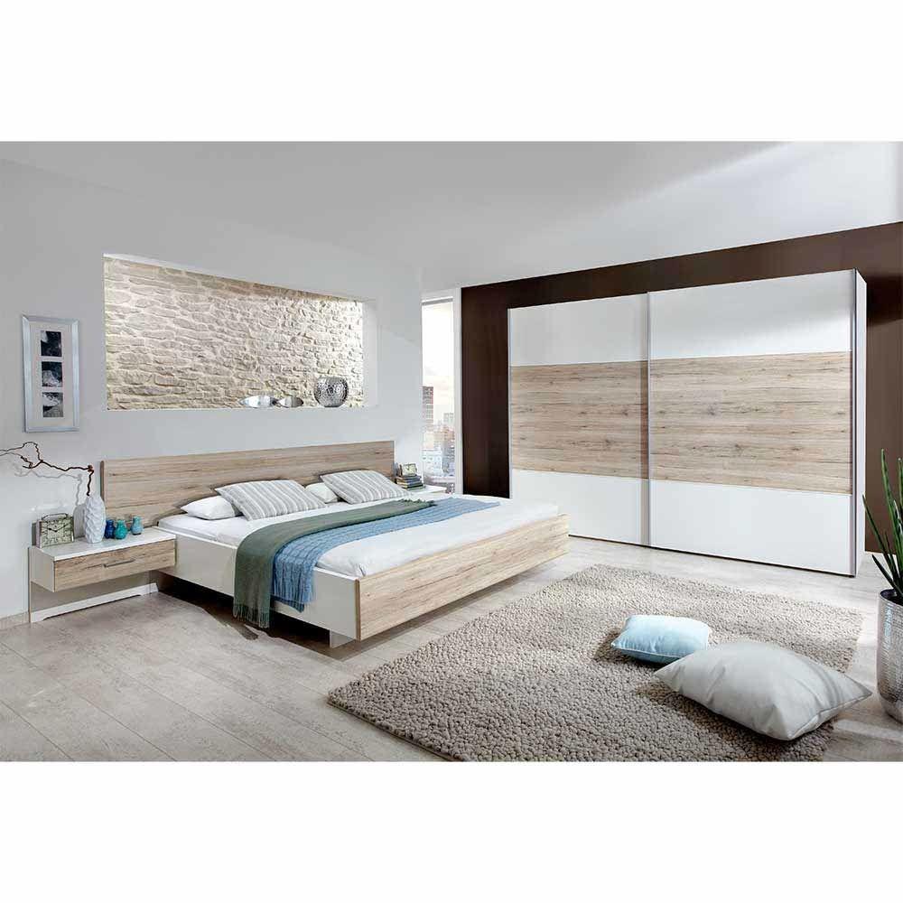 Schlafzimmer Komplettset in Weiß Eiche modern (4-teilig) Jetzt ...