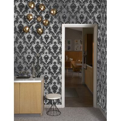 Tempaper Damsel Temporary Wallpaper In Metallic Silver 98 Is Sold A Roll Of 20 5