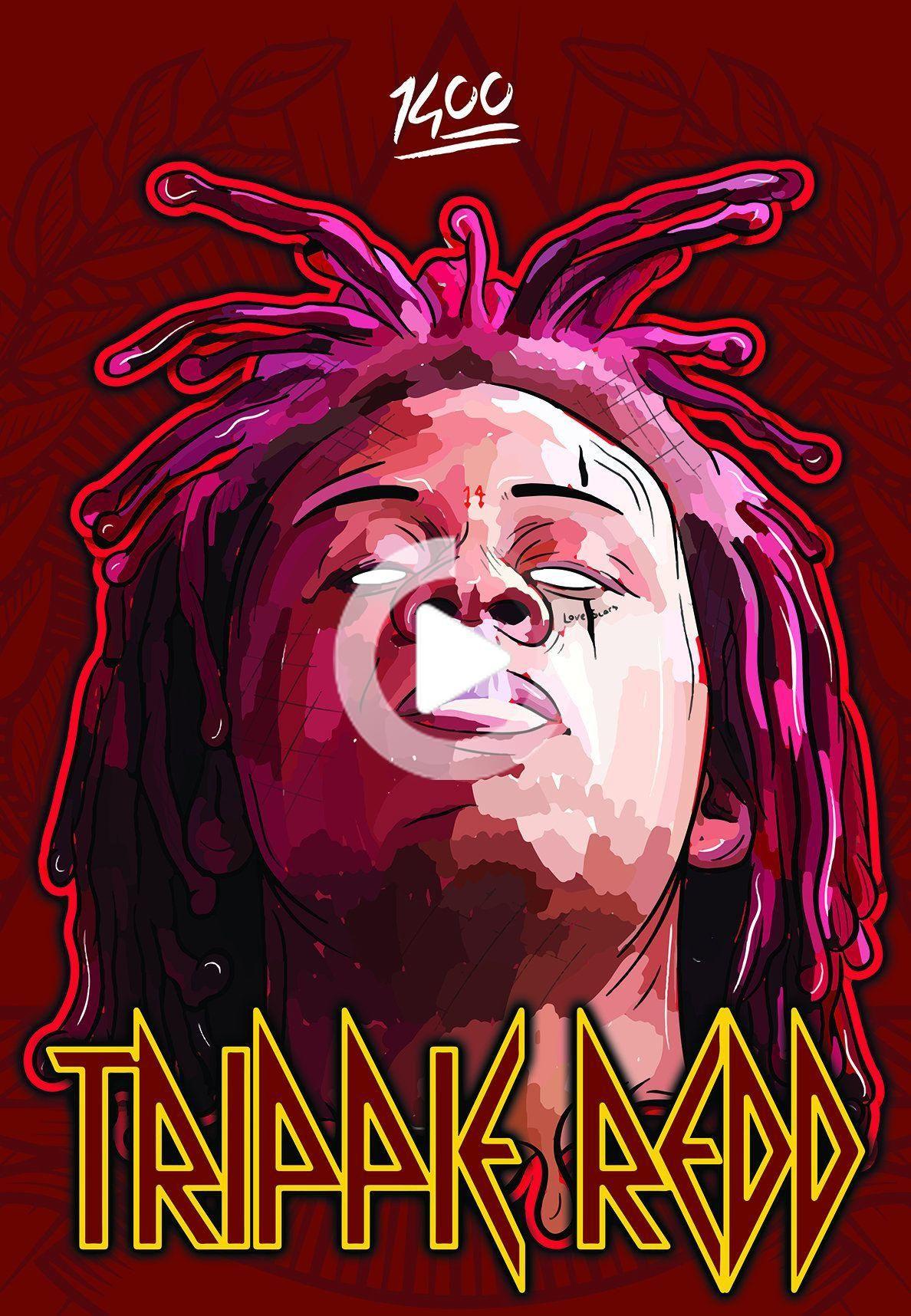 Trip Redd Poster Canvas 1400 Freemelly Trippie Redd Trippy Wallpaper Reds Poster
