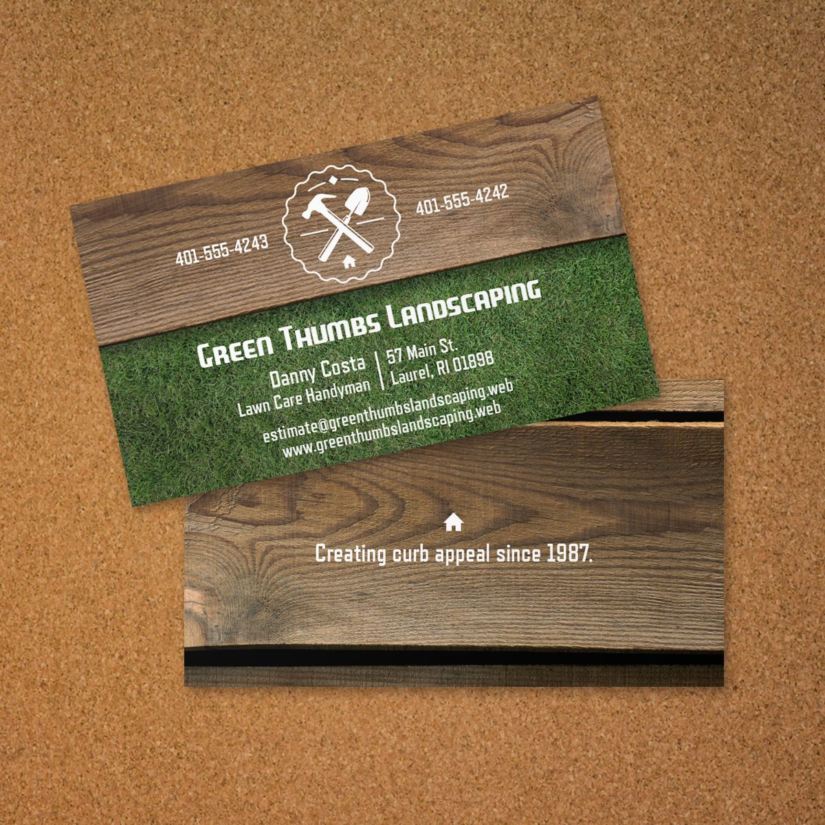 Landscaping business card vistaprint business card for Landscaping business