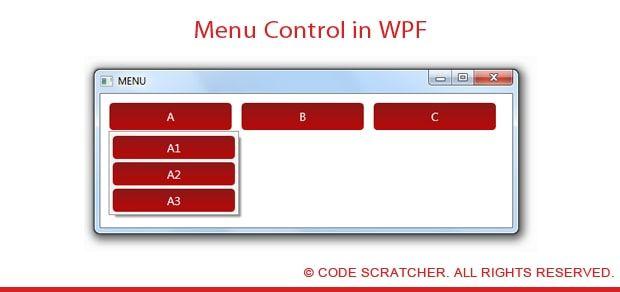 Menu control in wpf code scratcher pinterest for Wpf menu style template