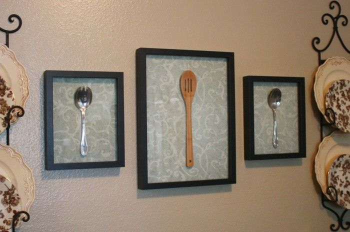 Kreative Wanddeko: Ungewöhnliche Ideen Zum Selbermachen! Wanddeko Küche  Dekoideen Wanddekoration