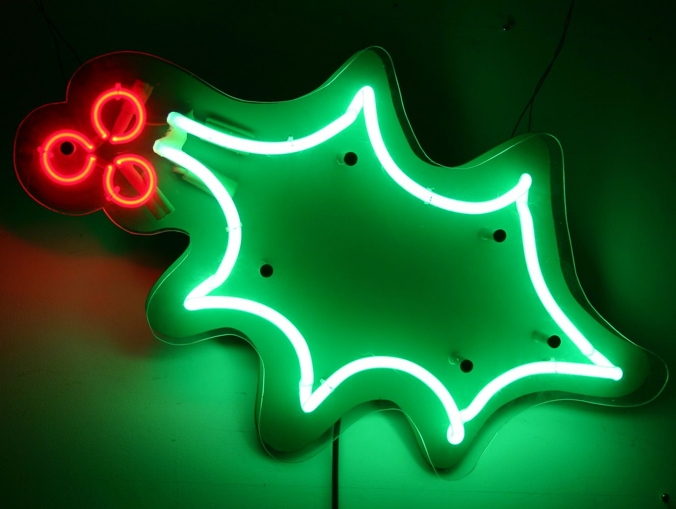 christmas holly neon by