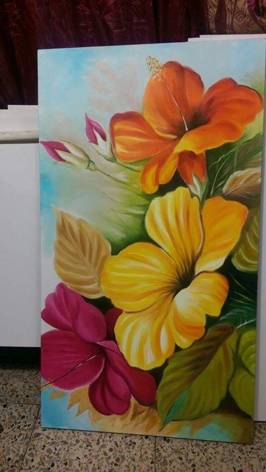 Pin By Ruth Jimenez On Solo Cuadros Floral Art Canvas Flower Art Floral Painting