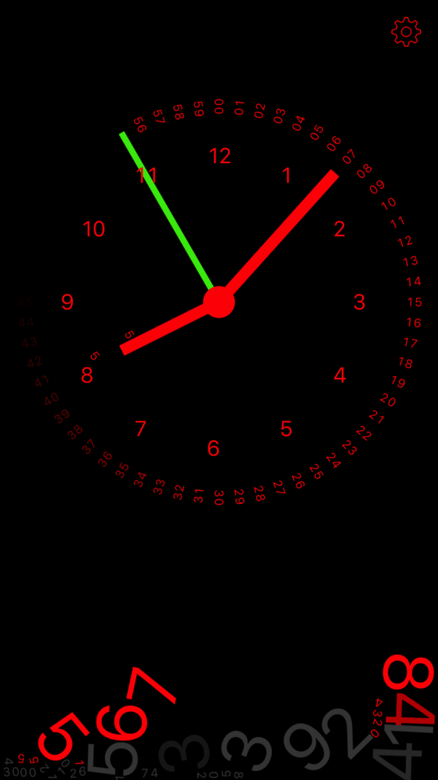 Gravity Clock On The App Store In 2020 Apple Wallpaper Iphone Colourful Wallpaper Iphone Clock Wallpaper