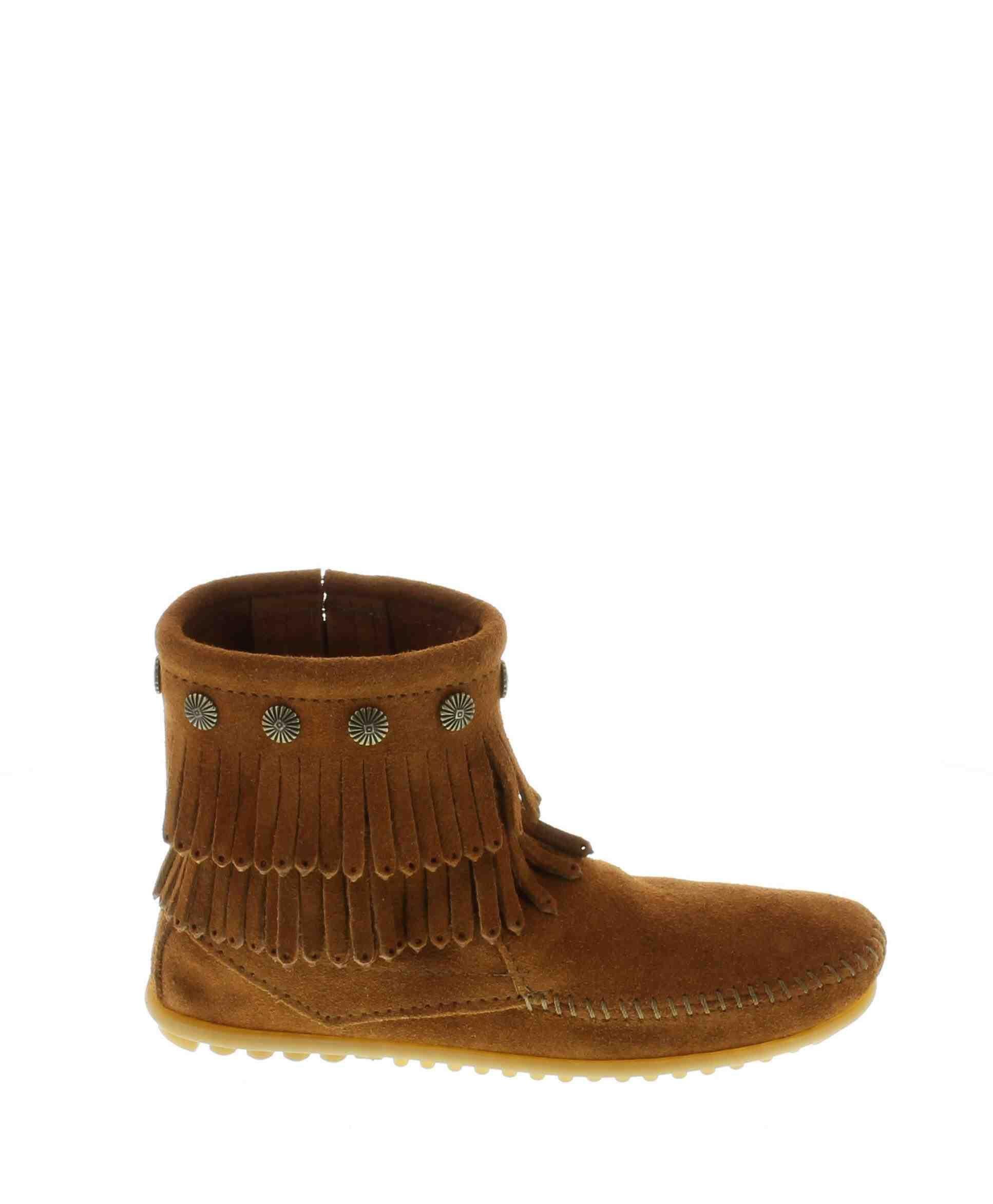 Double fringe side zip boot (women)