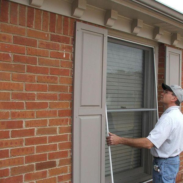We perform window screen repair on-site, re-screening existing ...